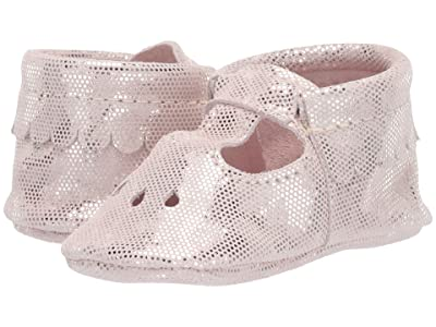 Freshly Picked Soft Sole Mary Jane Candy Shop (Infant/Toddler) (Pink Metallic Dots) Girls Shoes