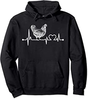 Chicken Heartbeat Funny Farmer/Farming/Farm Cool Love Gift Pullover Hoodie