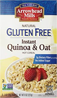 Arrowhead Mills Organic Instant Hot Cereal, Quinoa and Oat, Gluten Free, 8 Individual Packets
