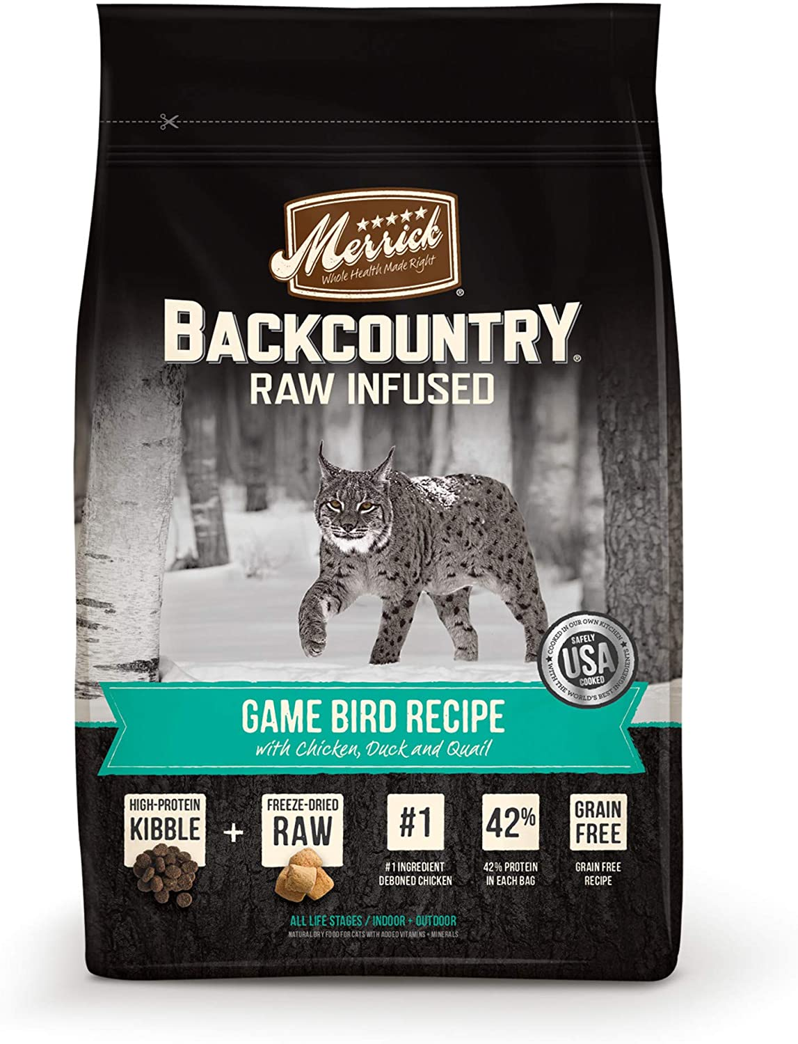 Merrick Regular discount Backcountry Grain Free Raw quality assurance Food Cat Dry Infused