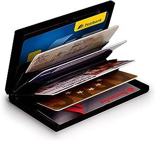 MyGadget Tarjetero Metalico con Bloqueo NFC - Slim Wallet Cartera Anti RFID - Porta Tarjetas de Credito con 6 Compartimien...