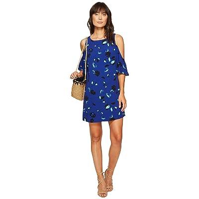 kensie Floating Petals Dress KS6K7995 (Dark Sapphire Combo) Women