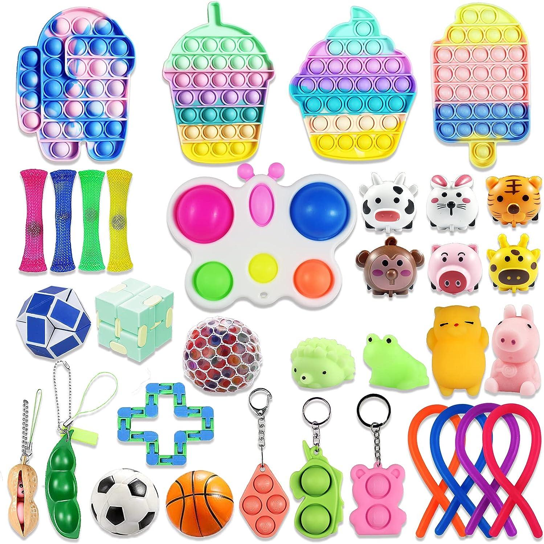 Dallas Mall 34 Pack Fidget Toys Pop Sensory Si Toy Bubble Direct store