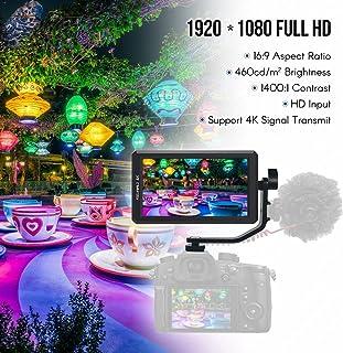 FEELWORLD F6 5.7inch IPS 1080P Camera Field Monitor Support 4K HD Input 1400:1 High Contrast for Canon Nikon Sony Panasoni...