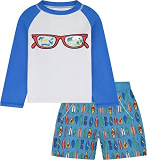 Andy & Evan Baby and Toddler Boy's 2-Piece UPF 50+ Rashguard & Swim Trunk Set