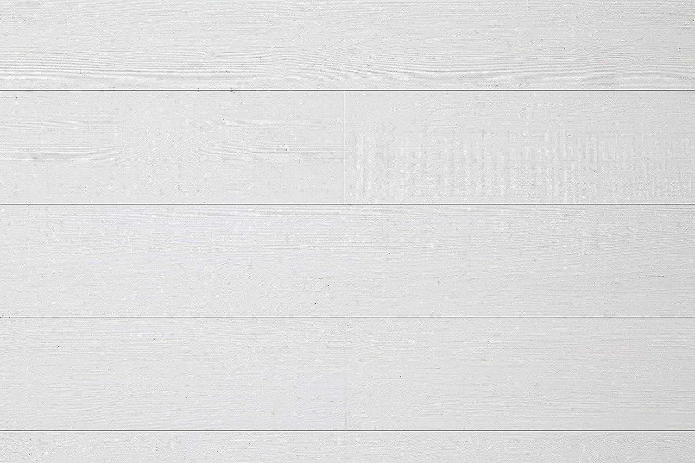 WoodyWalls Peel and Stick Wood Planks | Real Wood Wall Panels | Premium Set of 12 Wood Planks (19.5 sq. ft. per Box) Santorini (Pure White)