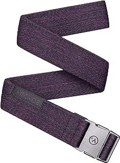 Arcade Belt Mens Adventure Slim Belts: Narrow Width Elastic Stretch Webbing, Micro Adjust Buckle
