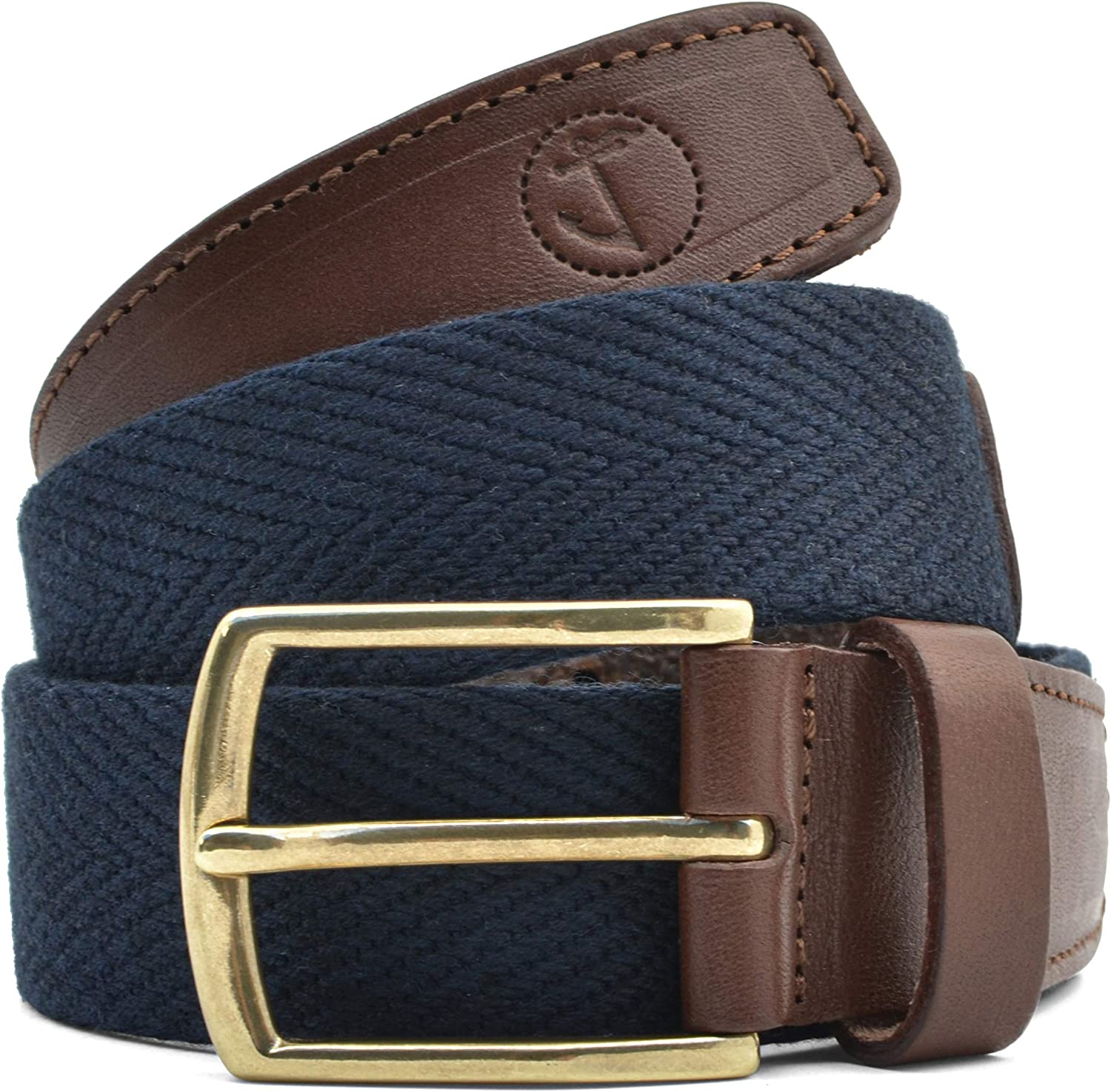 Men's Charlotte Mall Seajure Canvas and Brown Belt Leather Washington Mall Navy