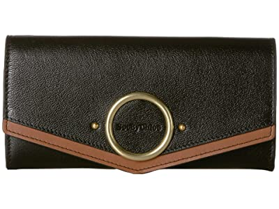 See by Chloe Aura Large Leather Wallet (Black) Wallet Handbags