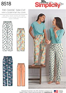 Simplicity Creative Patterns US8518A Sewing Pattern Sleepwear, A (S-L/X-Small-X-Large)