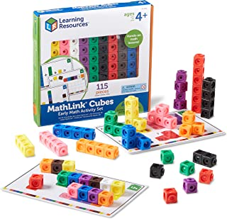 Learning Resources LER4286 Mathlink Cubes Early Math Activity Set (100 Piece)