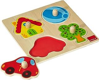 Goula - Puzzle de Colores, 4 Piezas de Madera (Diset 53015