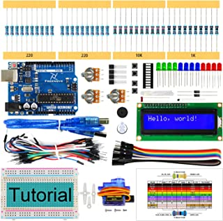 Freenove LCD 1602 Starter Kit with UNO R3 Board (Compatible with Arduino IDE), 118 Pages Detailed Tutorial, 153 Items, 23 ...