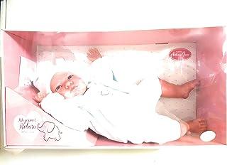Muñecas Antonio Juan Mi Primer Reborn Berta Gorro Pico Azul