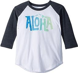 Chaser Kids - Vintage Jersey Aloha Raglan Tee (Little Kids/Big Kids)