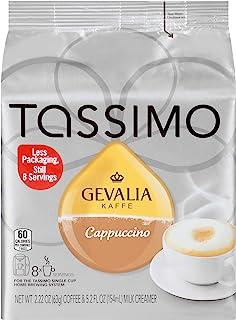 Gevalia Cappuccino & Milk Creamer T Discs for Tassimo Brewing Systems (8 Count)