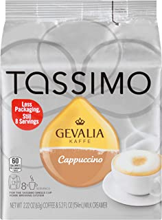 Tassimo Gevalia Cappuccino Coffee & Milk Creamer T Discs (8 Count)