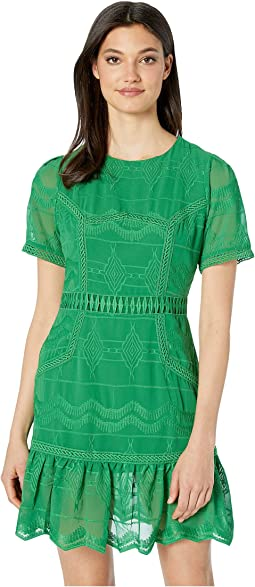 Lace Paneled Mini Dress