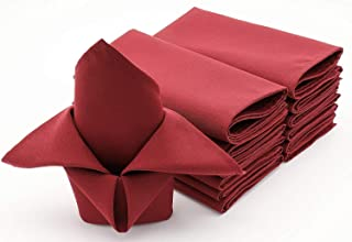 Oversized 20x20 Polyester Cloth Napkins for Wedding Party Restaurant Dinner - Washable and Durable - Set of 12 (Rust)