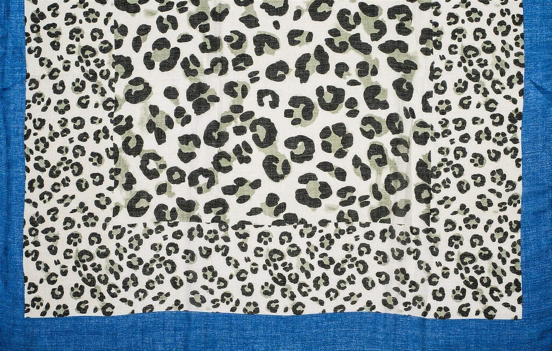 strisce colorate e frange styleBREAKER Sciarpa da donna con stampa di macchie di leopardo grandi e piccoli foulard 01016176