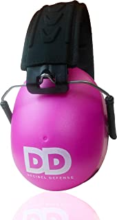 Professional Safety Ear Muffs by Decibel Defense - 37dB NRR - The HIGHEST Rated & MOST COMFORTABLE Ear Protection For Shooting & Industrial Use - THE BEST HEARING PROTECTION GUARANTEED! (PINK)