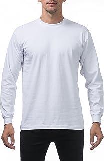 a9ace1add44fb Pro Club Men s Heavyweight Cotton Long Sleeve Crew Neck T-Shirt