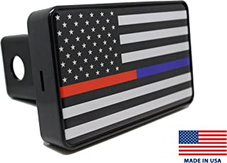 Bright Hitch - Thin Blue & Red Line American Flag Hitch Cover