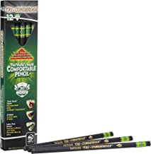 Ticonderoga Tri-Conderoga Triangular Pencils, Wood-Cased #2, Sharpener, Soft Touch Comfort Barrel, Black, 12-Pack (22500)