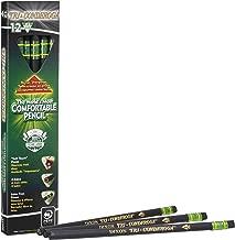 Ticonderoga Tri-Conderoga Triangular Pencils, Wood-Cased #2, Sharpener, Soft Touch Comfort Barrel, Black, 12-Pack (22500)