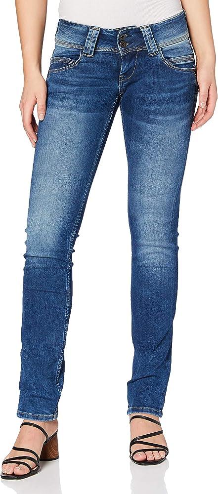 Pépé jeans,jeans per donna,84% cotone, 14% poliestere, 2% elastan,denim elastico PL200029D242