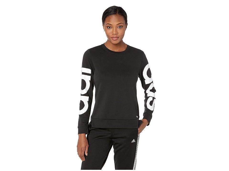 adidas Essentials Branded Sweatshirt (Black/White) Women