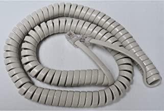 Off White 12' Ft Handset Cord for Panasonic Phone KX T2000 T7000 TS TSC Series T7020 T7030 T7050 T2335 T2355 T2365 T105 T108 T208 T500 TSC7 TSC11 TSC14 W Curly Coil by DIY-BizPhones