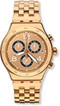 Swatch Unisex Chronograph Quartz Watch with Stainless Steel Strap YVG403G