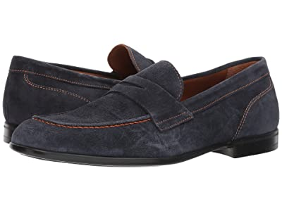 Bruno Magli Silas (Navy Suede) Men
