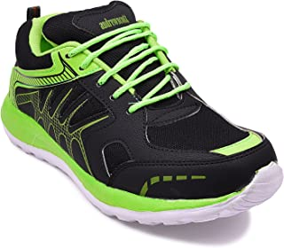 Andrew Scott Men's Black/Green Sneakers-9 UK (43 EU) (10 US) (2018BLACK/GREEN)