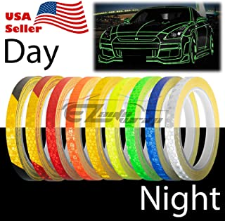 EZAUTOWRAP Red Reflective Tape Safety Self Adhesive Striping Sticker Decal 26FT / Roll 1CM