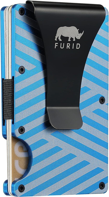 Furid Money Clip,Slim Metal Wallet for Men Travel Wallets, Small Mens Wallet Minimalist Credit Card Holder Wallet