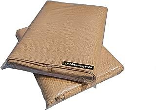 8 ft x 20 ft Sunscreen Shade Fabric 95% Shade, UV Resistant Mesh Netting Cover for Outdoor,Patio,Backyard,Pergola,Plant,Greenhouse,Barn (Tan)