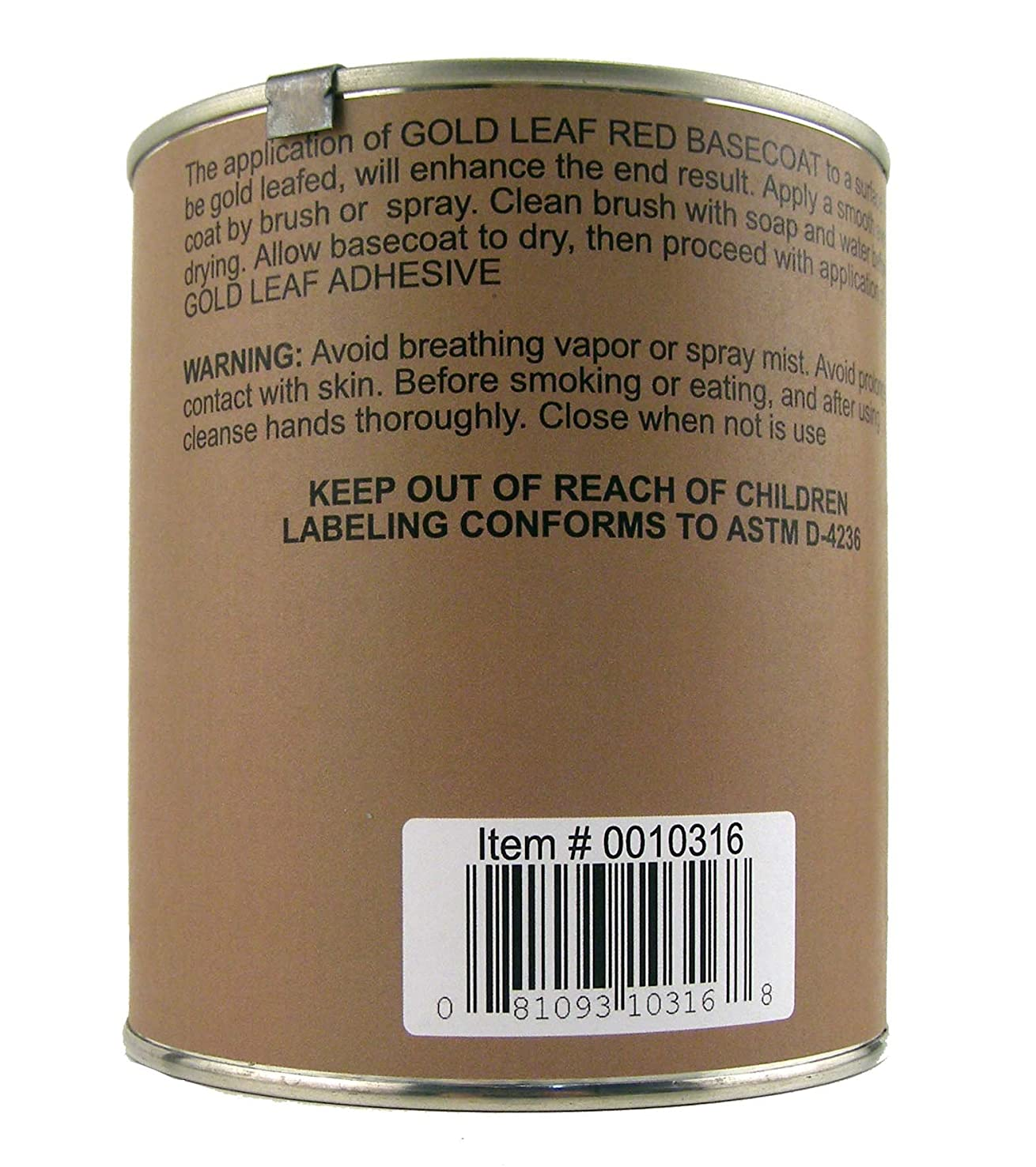 Speedball Mona Lisa 32-Ounce Red Basecoat for Metal Leaf