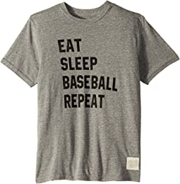 Eat Sleep Baseball Repeat Tri-Blend Short Sleeve Tee (Big Kids)