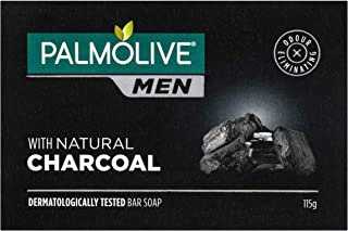 Palmolive Men Bar Soap Odour Eliminating with Natural Charcoal Recyclable, 115g