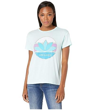 Life is Good Favorite Slouchy Tee (Bermuda Blue) Women