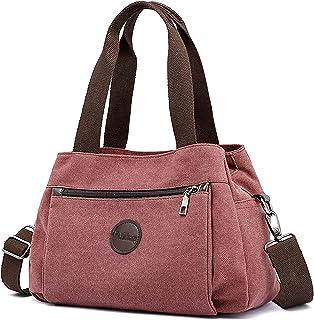 DORRISO Umhängetasche Damen Canvas Handtasche Schultertasche Casual Multifunktionale Umhängetaschen Groß Kapazität Schulte...
