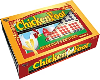 Puremco Chicken Foot Dominoes Game with Box, Dominoes by