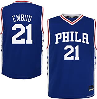 Outerstuff Joel Embiid Philadelphia 76ers Blue Youth Away Replica Youth Jersey