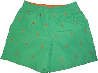 5b3fe82482 RALPH LAUREN Polo Mens All Over Pony Swim Trunks Green with Orange Ponys