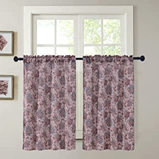 Lemona FruitHome D/écor Print Kitchen Tier /& Valance Set Bath Laundry Vera Neumann Small Window Curtain for Cafe Grey Bedroom -