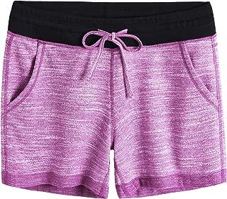 Women's Elastic Waist Lounge Sweat Shorts