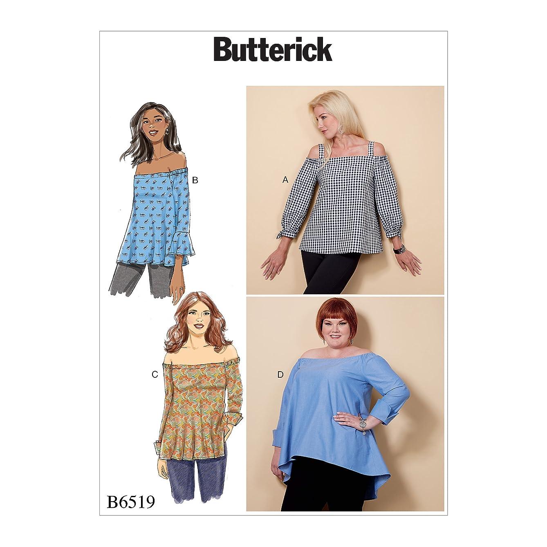Butterick Patterns B65190Y0 Misses' Off-The-Shoulder Top, Y (XSM-SML-MED)