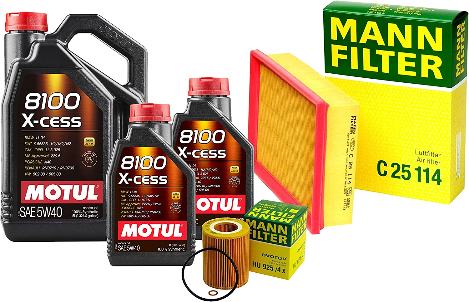 Directly managed store El Paso Mall 7L 8100 X-CESS 5W-40 Filter Motor Air Kit Oil Change 323 For E36